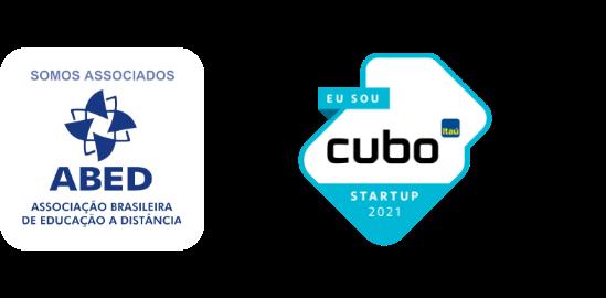 plataforma de criação de materiais didáticos - Selos - Logos da ABED e Cubo